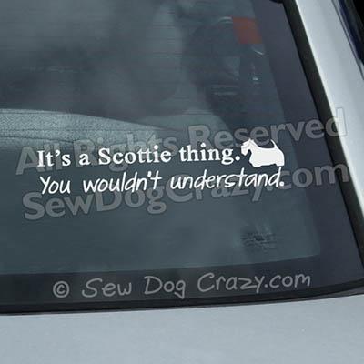 Scottish Terrier Car Window Sticker