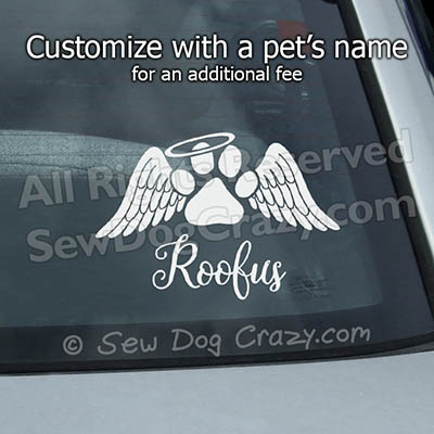Dog Remembrance Car Decal