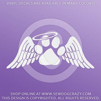 Dog Loss Angel Wings Sticker