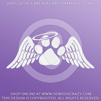 Dog Loss Angel Wings Sticker
