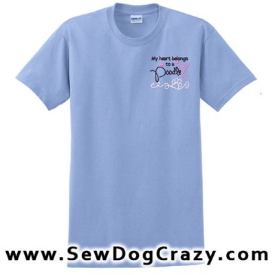 Embroidered Poodle Tshirts