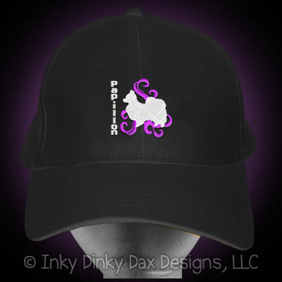 Embroidered Papillon Hat
