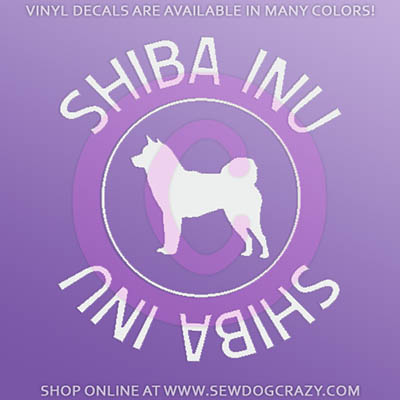 Shiba Inu Car Window Sticker