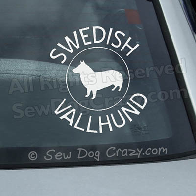 Swedish Vallhund Car Stickers