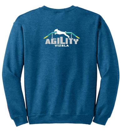 Embroidered Vizsla Agility Sweatshirt