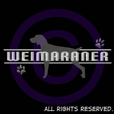 Embroidered Weimaraner Gifts