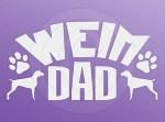 Weimaraner Dad Car Sticker
