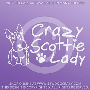 Crazy Scottie Lady Decals
