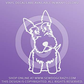 Cartoon Scottish Terrier Vinyl Stickers