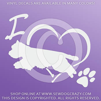 Love West Highland White Terrier Dog Sports Decals