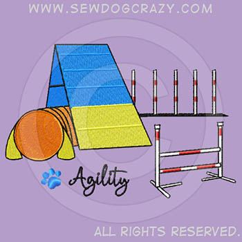 Embroidered Agility Equipment Shirts
