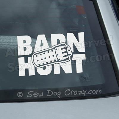 Barn Hunt Car Window Stickers