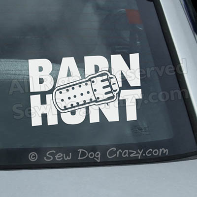 Barn Hunt Car Window Stickers