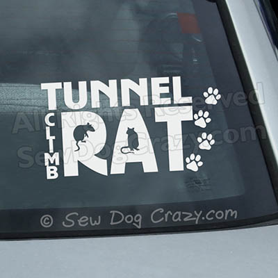 Tunnel Climb Rat Barn Hunt Sticker