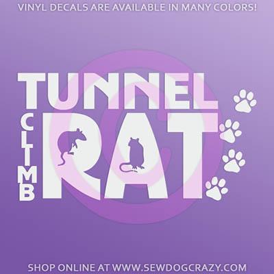 Tunnel Climb Rat Car Window Stickers