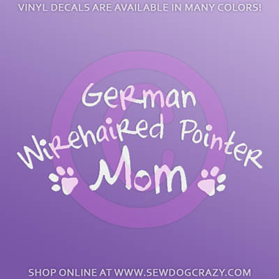 German Wirehaired Pointer Mom Decals