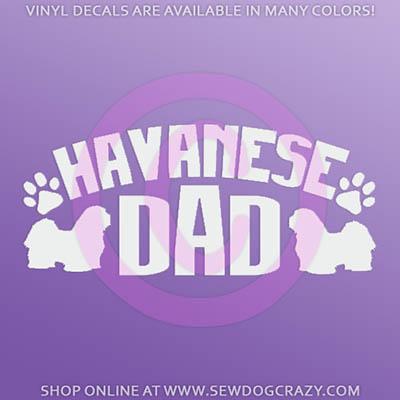 Havanese Dad Decals