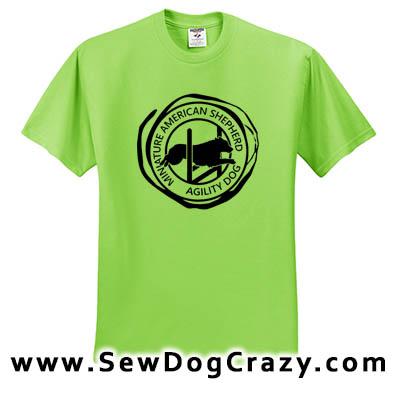 Miniature American Shepherd Agility Tshirt