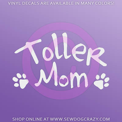 Toller Mom Car Decal