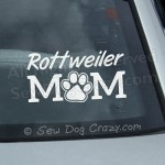 Rottweiler Mom Car Window Sticker