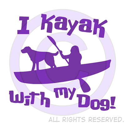 Kayak with dog shirts