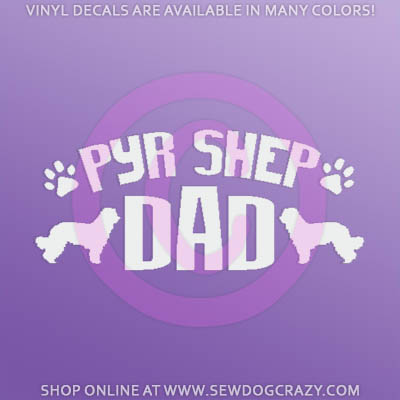 Pyrenean Shepherd Dad Car Decal