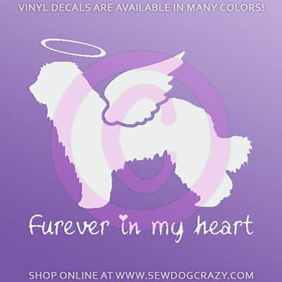 Pyrenean Shepherd Angel Sticker