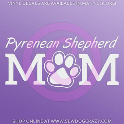 Pyrenean Shepherd Mom Decals