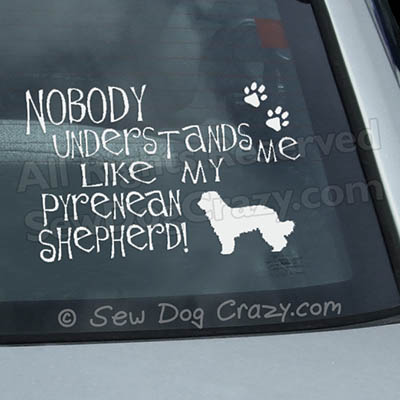 Funny Pyrenean Shepherd Car Window Stickers