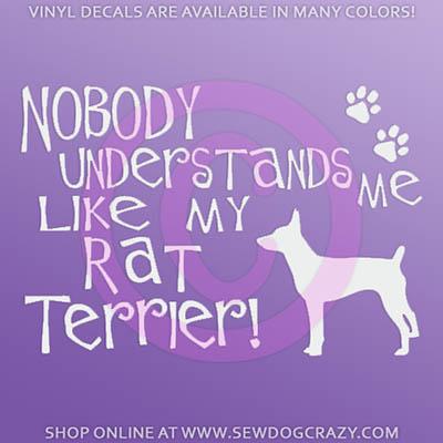 Funny Rat Terrier Car Sticker