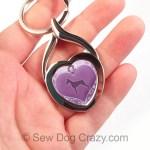 Purple Doberman Pinscher Keychain