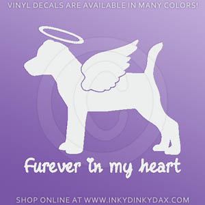 Angel Jack Russell Terrier Sticker