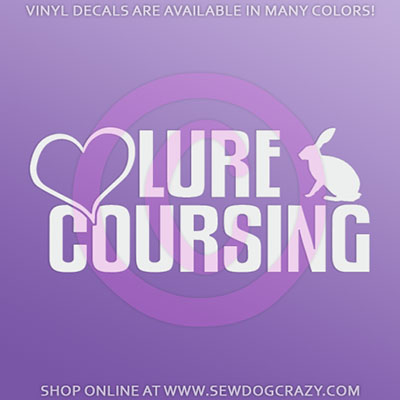 Love Lure Coursing Vinyl Decal