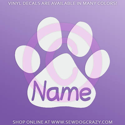 Custom Paw Print Decals