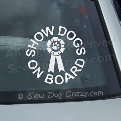 Show Dogs On Board Car Window Sticker