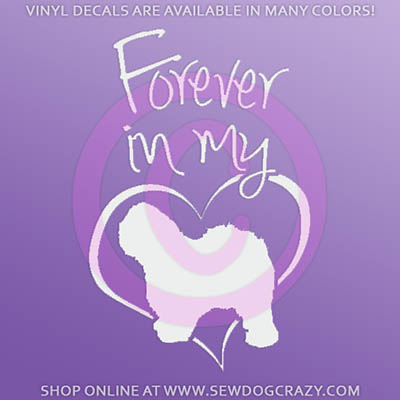Forever In My Heart Old English Sheepdog Stickers