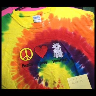 Rainbow Tie Dye Old English Sheepdog TShirt