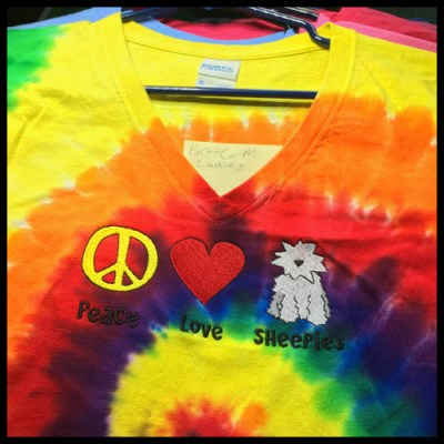 Old English Sheepdog Tie Dye Tshirt