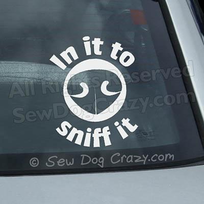 Nose Work Car Window Sticker