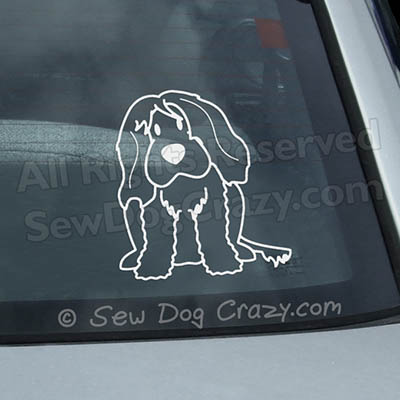 Cartoon Portuguese Water Dog Sticker