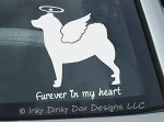 Angel Norwegian Buhund Decal