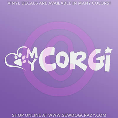 Love My Corgi Car Sticker