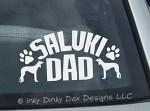 Saluki Dad Car Window Sticker