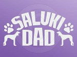Saluki Dad Decal