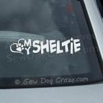 Love My Sheltie Car Window Sticker