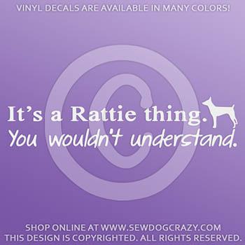 Vinyl Rat Terrier Car Sticker