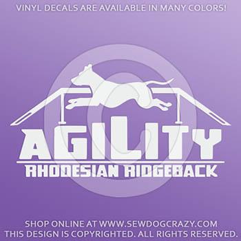 Vinyl Rhodesian Ridgeback Agility Decals