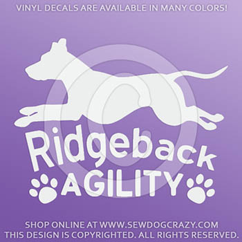 Vinyl Ridgeback Agility Stickers