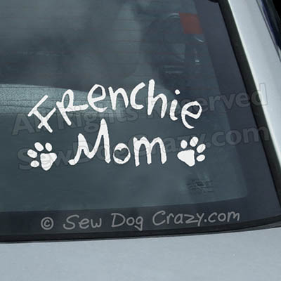 French Bulldog Mom Car Window Stickers