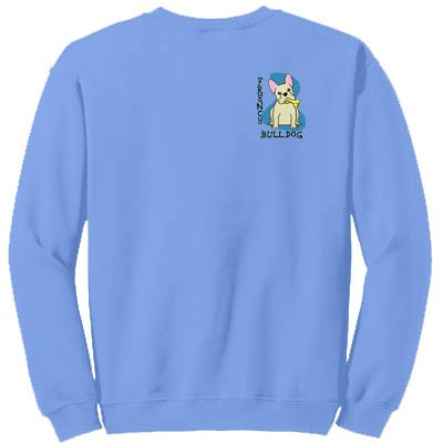 Embroidered French Bulldog Sweatshirt